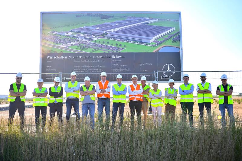 The construction of Mercedes-Benz factory in Jawor has started