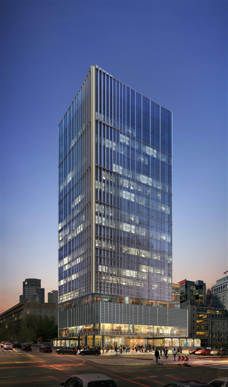 The building which will change the skyline of Warsaw – the construction of Central Point –a  high-class office building